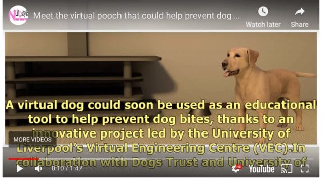 Virtual Dog to Prevent Bites