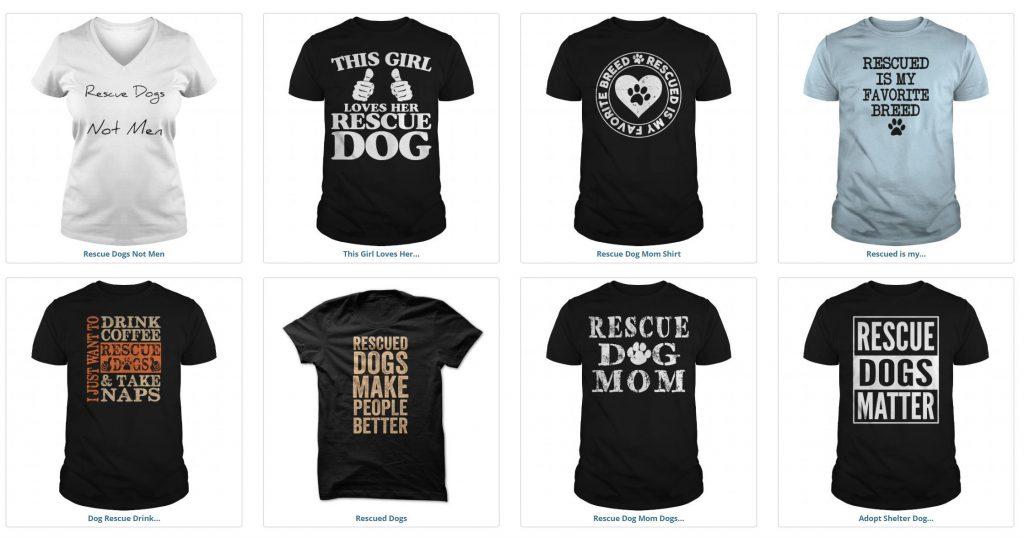 Buy Rescue Dog Tshirts
